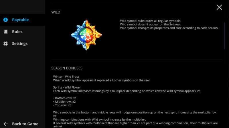 Season Sisters :: Wild Symbol Rules