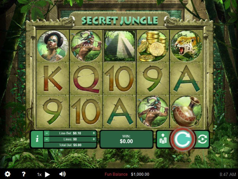 Play slots at Casino Brango: Casino Brango featuring the Video Slots Secret Jungle with a maximum payout of $250,000