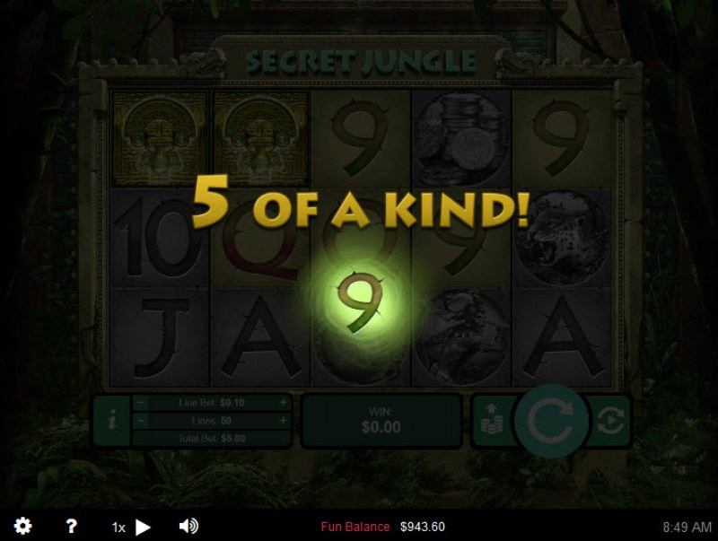 Secret Jungle :: Five of a kind