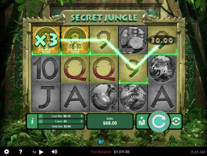 Secret Jungle :: X3 Win Multiplier