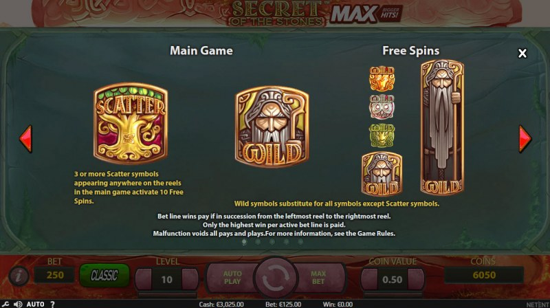Play slots at Greenspin: Greenspin featuring the Video Slots Secret of the Stones MAX with a maximum payout of $1,125,000