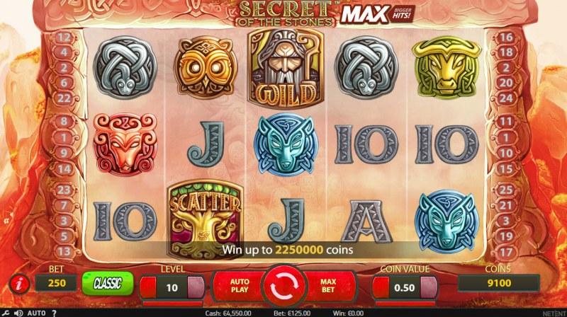 Secret of the Stones MAX :: Main Game Board