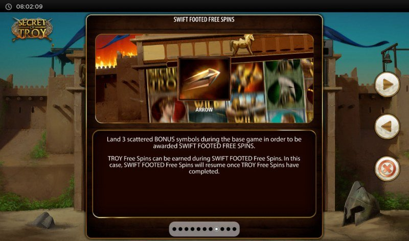 Secret of Troy Jackpot Wars :: Swift Footed Free Spins