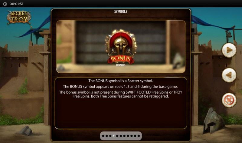 Secret of Troy Jackpot Wars :: Scatter Symbol Rules