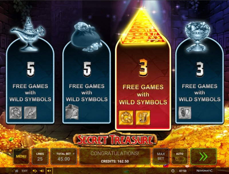 Secret Treasure :: Pick your free games feature
