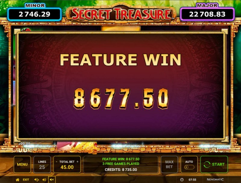 Secret Treasure :: Total Free Spins Payout