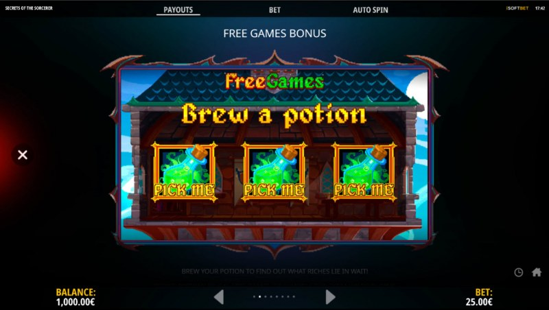 Secrets of the Sorcerer :: Free Spin Feature Rules