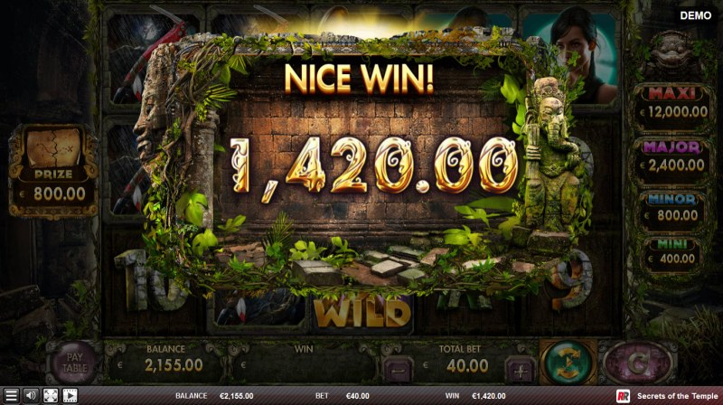 Secrets of the Temple :: Total Free Spins Payout