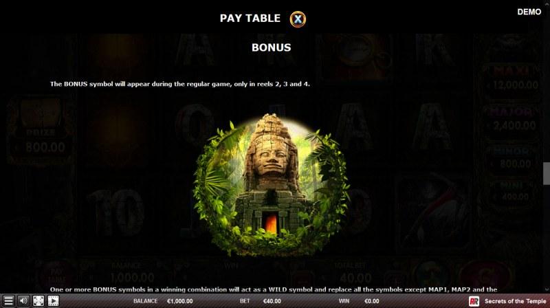 Secrets of the Temple :: Bonus Symbol