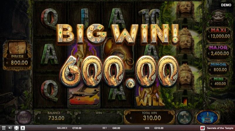 Secrets of the Temple :: Big Win