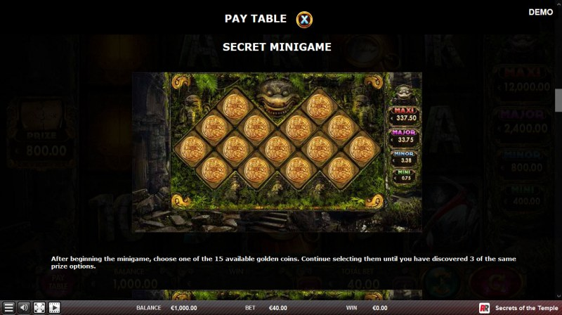 Secrets of the Temple :: Secret Minigame