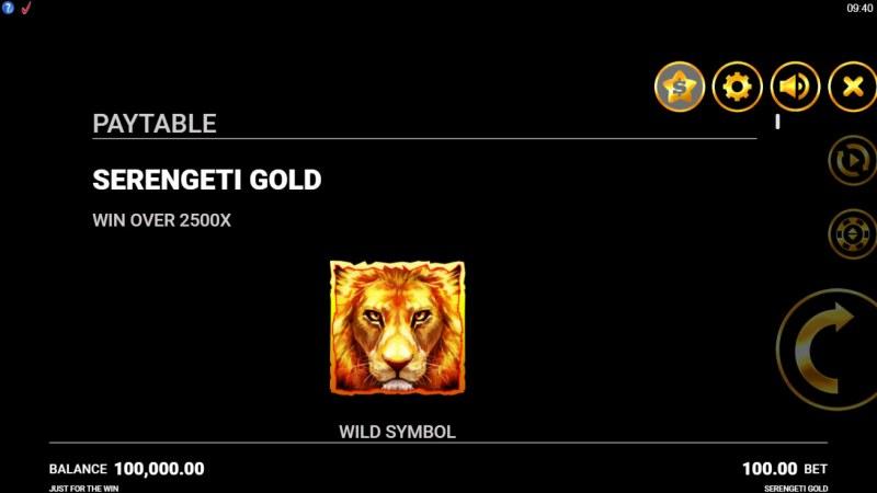 Serengeti Gold :: Wild Symbol Rules