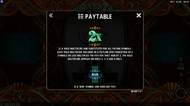 Seven 7's :: Wild Symbols Rules