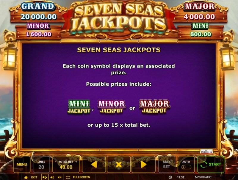 Seven Seas Jackpots :: Jackpot Rules