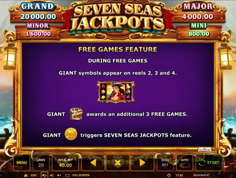 Seven Seas Jackpots :: Free Spin Feature Rules