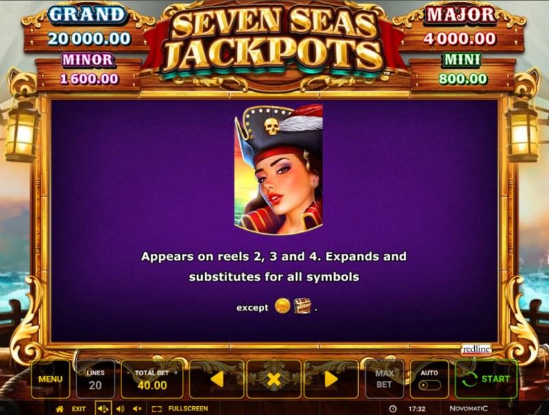 Seven Seas Jackpots :: Wild Symbol Rules