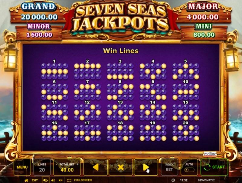 Seven Seas Jackpots :: Paylines 1-20