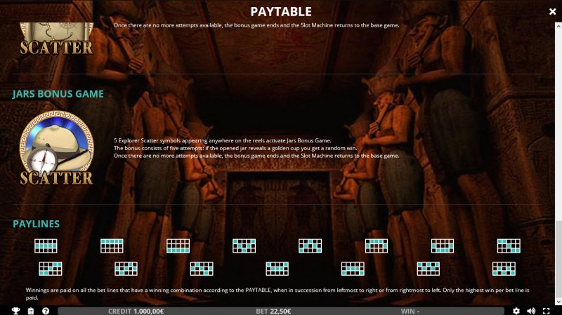 Seven Wonders of the Ancient World :: Paylines 1-15