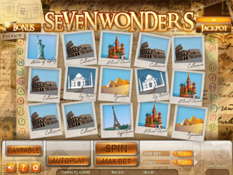 Seven Wonders :: Main Game Board