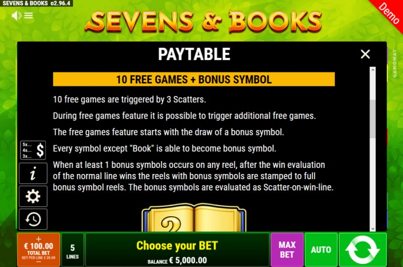 Sevens & Books :: Free Game Rules