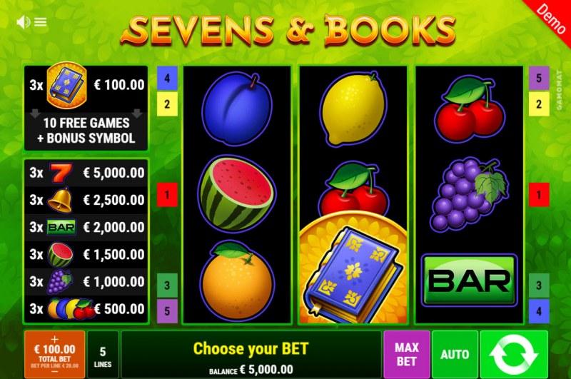 Sevens & Books :: Main Game Board