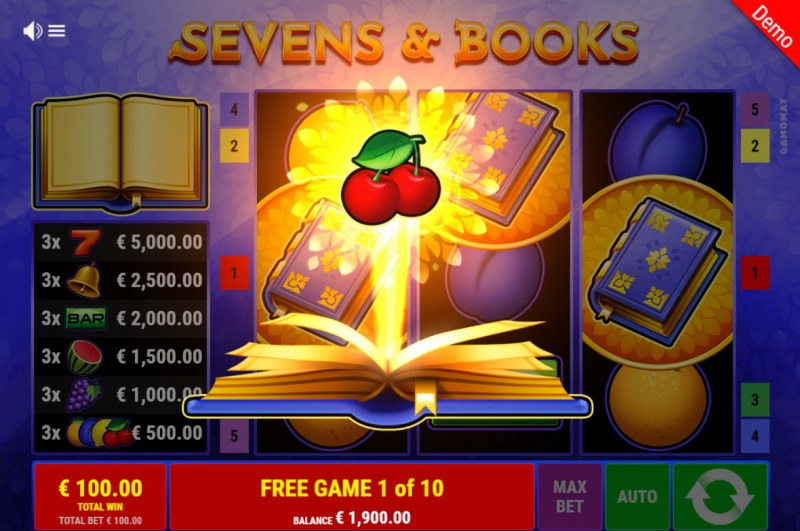 Sevens & Books :: A random symbol is selected prior to free spins play