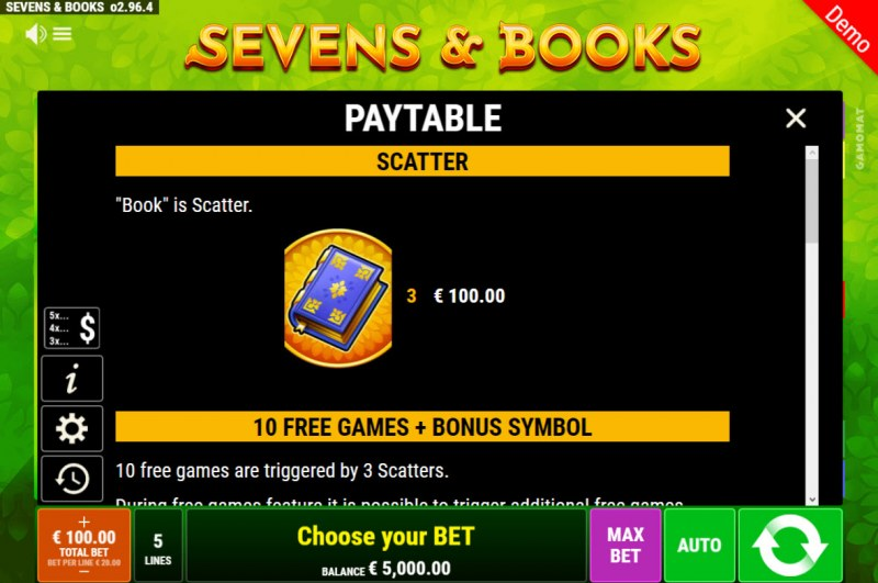 Sevens & Books :: Scatter Symbol Rules