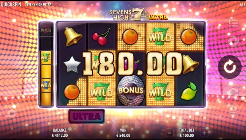 Sevens High Ultra :: Multiple winning paylines