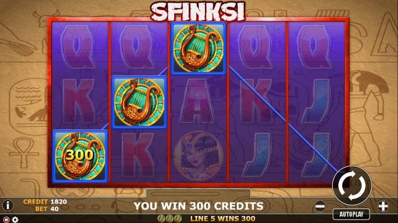 Sfinski :: Three of a kind win