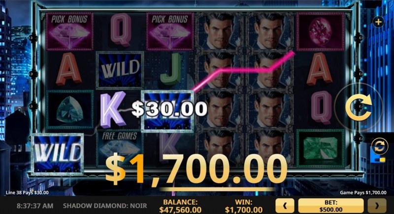 Shadow Diamond Noir :: Multiple winning paylines