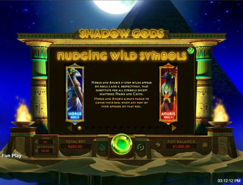 Shadow Gods :: Nudging Wild Symbols