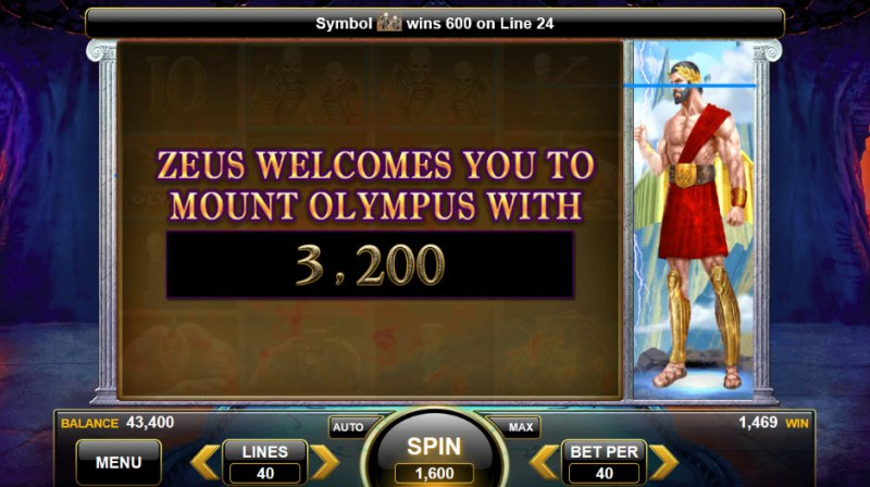 Shadows of Olympus :: Feature payout