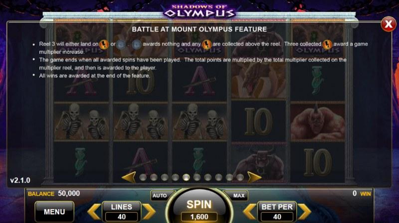 Shadows of Olympus :: Bonus Game Rules