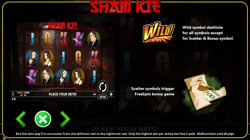 Sham Kie :: Wild and Scatter Rules