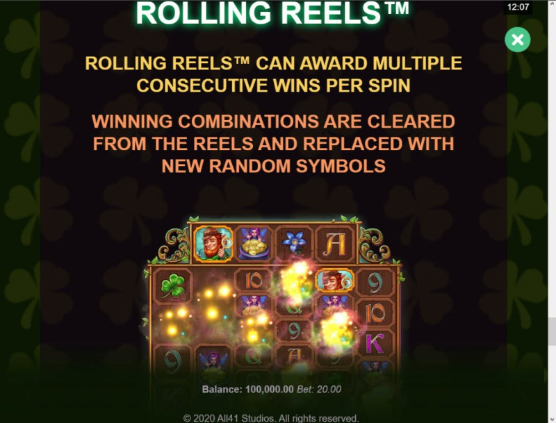 Shamrock Holmes Megaways :: Rolling Reels Feature