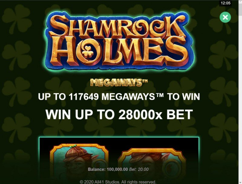 Shamrock Holmes Megaways :: Win Up To 28000x