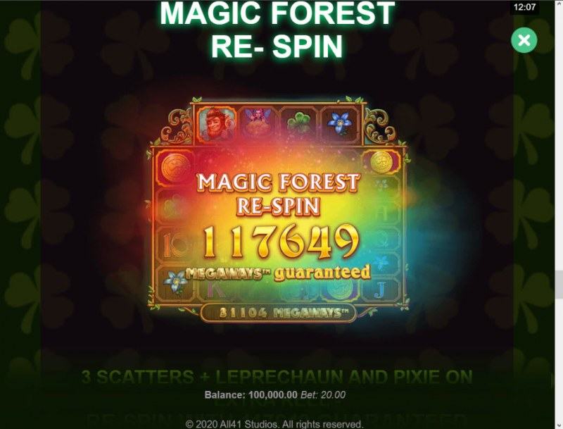 Shamrock Holmes Megaways :: Magic Forest Re-Spin