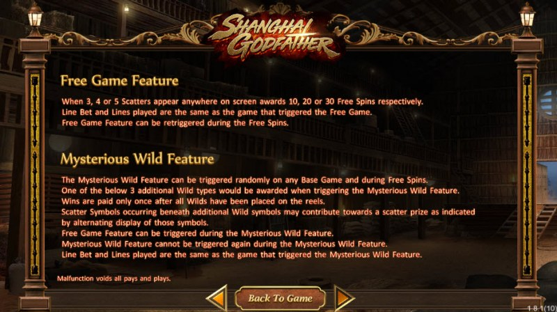 Shanghai Godfather :: Free Spins Rules