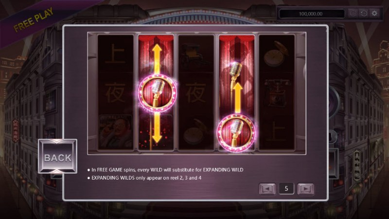 Shanghai Night :: Free Spins Rules