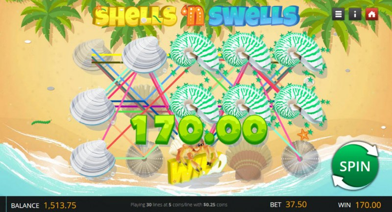 Shells 'n Swells :: Game pays in both directions