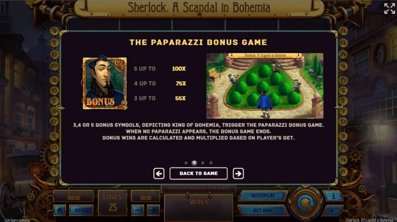 Sherlock A Scandal in Bohemia :: Paparazzi Bonus Game