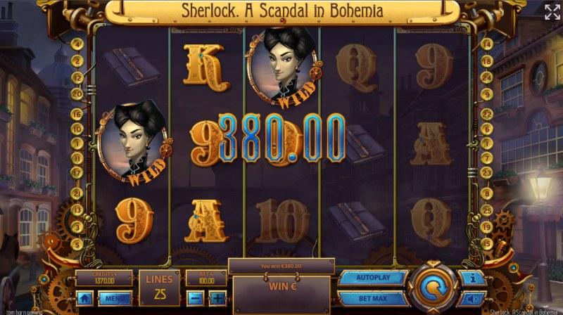 Sherlock A Scandal in Bohemia :: Multiple winning paylines