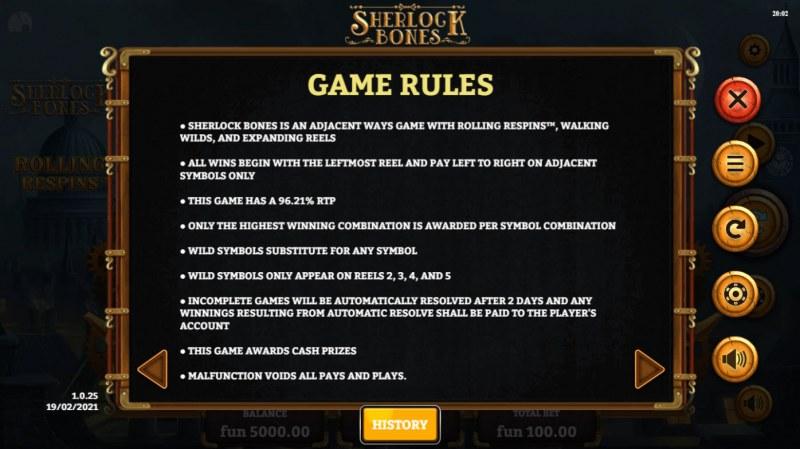 Sherlock Bones :: General Game Rules