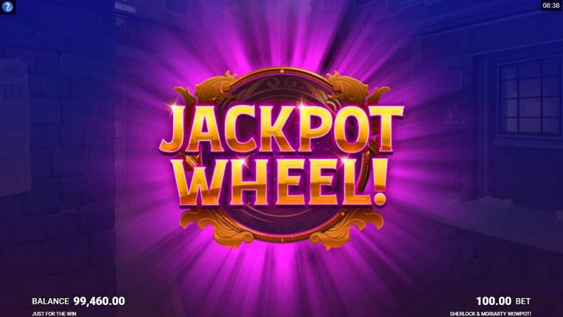 Sherlock & Moriarty Wow Pot :: Jackpot Wheel Activated