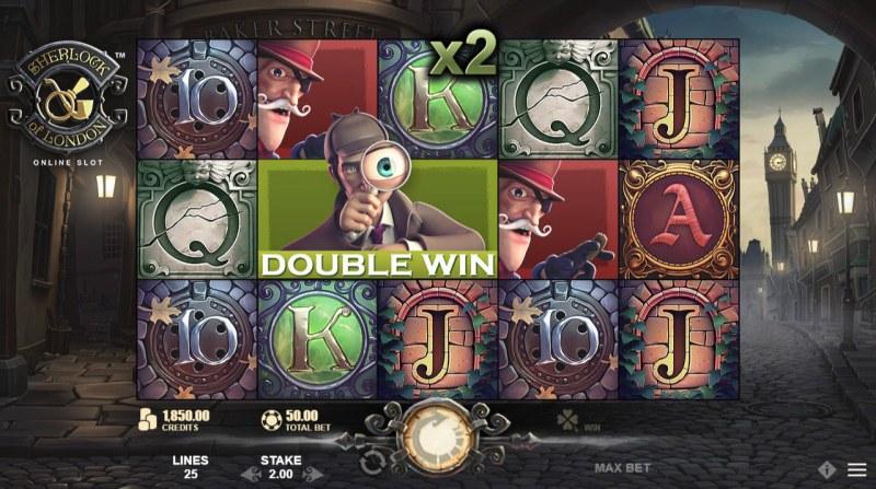 Sherlock of London :: Double Win triggered