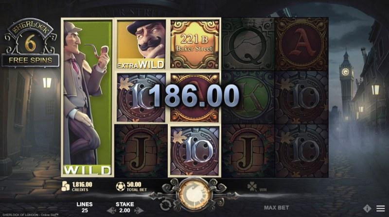 Sherlock of London :: Multiple winning paylines