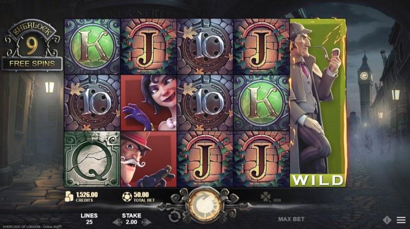 Sherlock of London :: Free Spins Game Board