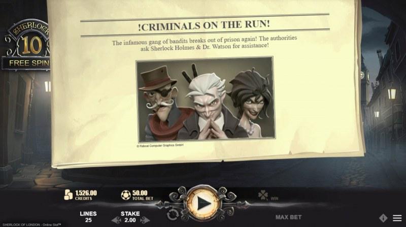 Sherlock of London :: Criminals on the run