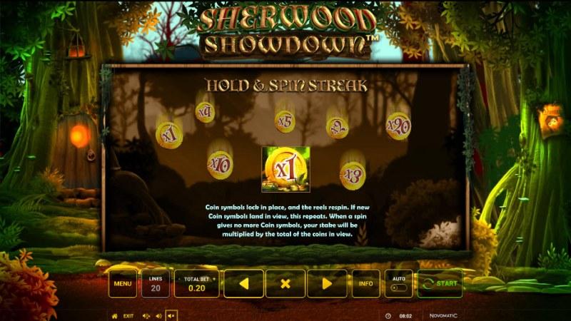 Sherwood Showdown :: Hold N Spin Streak Feature
