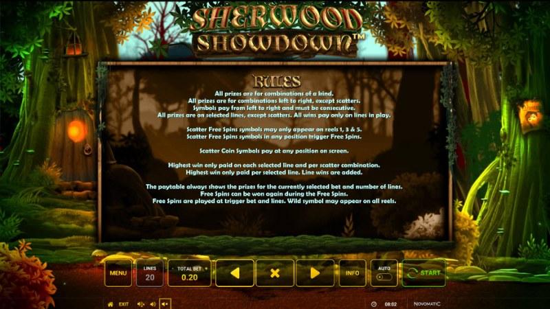 Sherwood Showdown :: General Game Rules